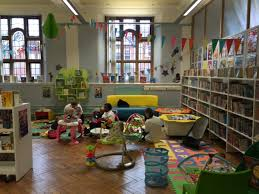 huge library and creche