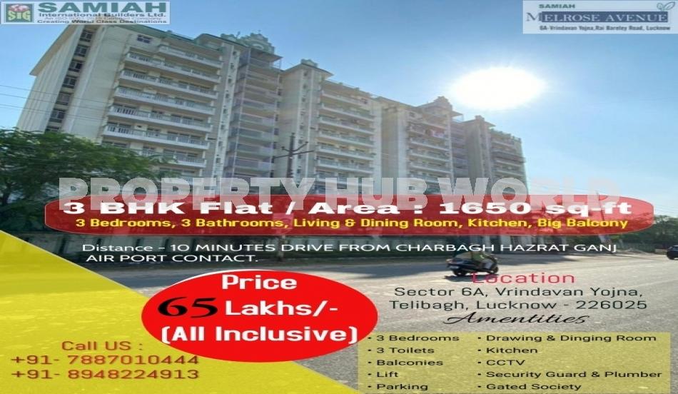 3 BHK Flat Available For Sale At Sector 6A, Vrindavan Yojna, Raibareli Road, Telibagh, Lucknow