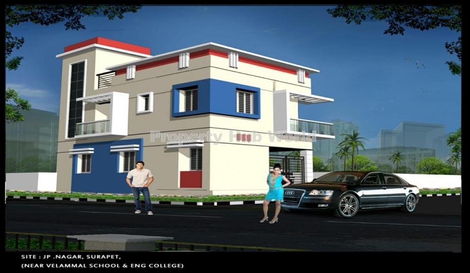 New luxurious 3bhk independent villa for sale in surapet ambattur