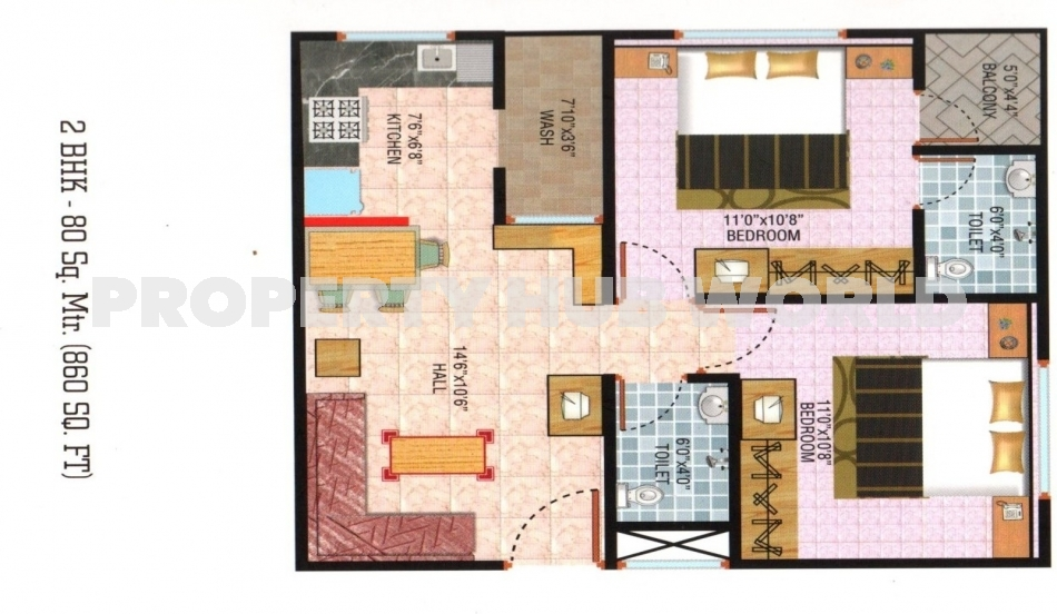 2 BHK Flat For Sale Only Rs.19 Lac. Including Registry