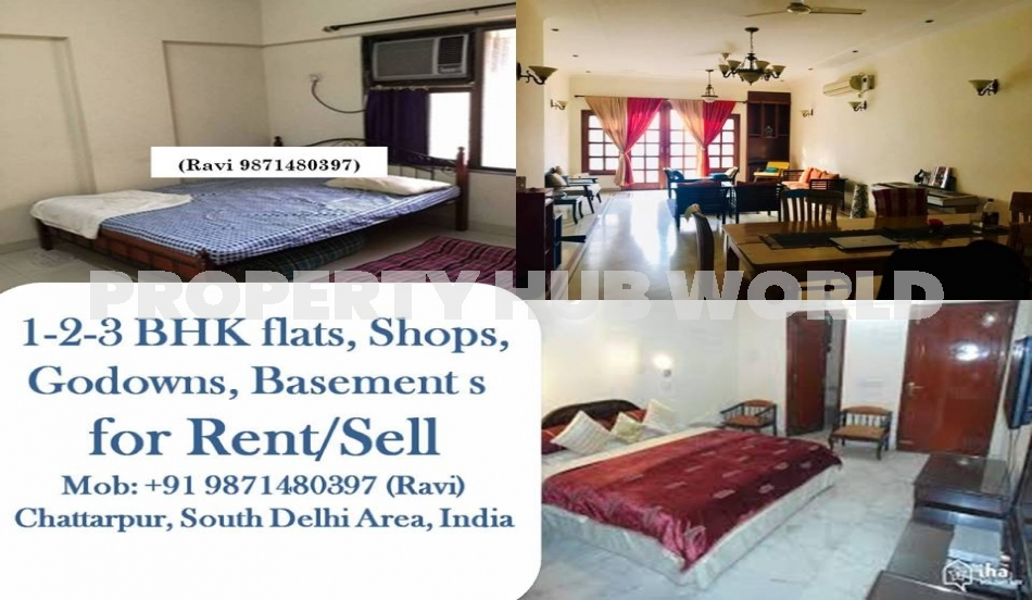 3bhk flat for rent furnished or semi furnished flats are available